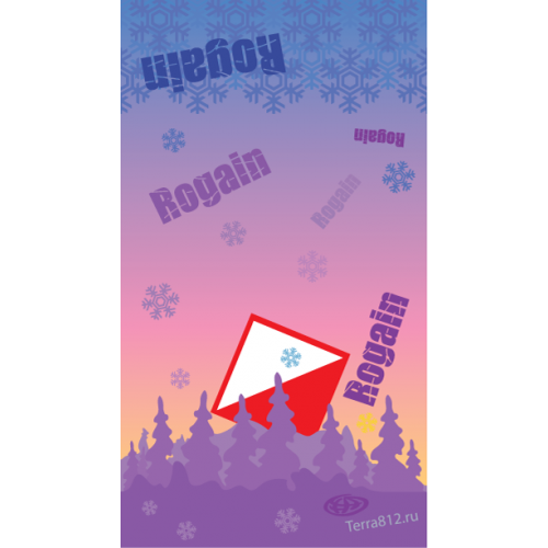 Бандана-труба Терра Рогейн, зимний рассвет