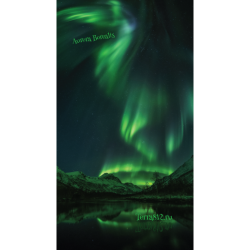 Бандана-труба Терра Северное сияние / Aurora Borealis зелёная