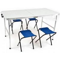 Набор Стол раскладной влагозащищенный 60х120 см и 4 табурета