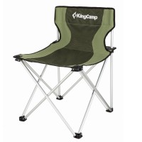 Кресло складное (алюминий) 3801 Compact chair (зел. полосы 50х50х45/73)