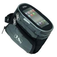 Сумочка/чехол+бокс на раму д/смартфона 160х110х130мм 2бок. кармана влагозащ. черная M-WAVE