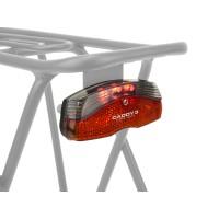 Фонарь задний на багажник 3д/1ф. A-Caddy 3 красный 180` видимость с батар. (10) AUTHOR