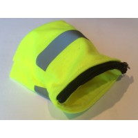 Светоотраж. напульсник на запястье, с кармашком на молнии, желтый