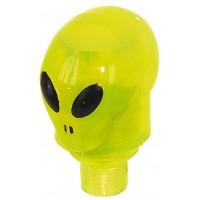 """Колпачки для ниппеля """"инопланетянин"""" желтый пласт. авто/спорт со светодиодом (20) с батар."""