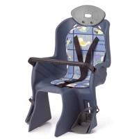 Сиденье детское на багажник с поручнем и с подголов, до 22кг 310*670*310мм (8) синее