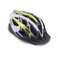 Шлем с сеточкой Wind 144 21отв. неоново-желто-белый 54-58см (10) AUTHOR