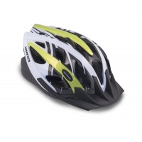 Шлем с сеточкой Wind 144 21отв. неоново-желто-белый 58-62см (10) AUTHOR