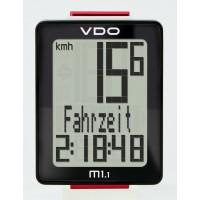 Велокомп. VDO M1.1 NEW 5 ф-ций 3-строчный дисплей черно-белый (Германия)