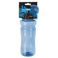 Фляга пластик. 0,7л с крышкой (50) прозрачно-голубая M-WAVE