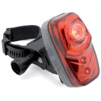 Фонарь задний 3д (1 мощн. 0,5 W)/2ф. A-RedSpot красный влагозащ. (120) с батар. AUTHOR