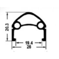 "Обод 26"" H35236 двойной пистонир. д/диск. торм (559х25/19,4х20,3мм 36отв.) черный"