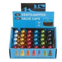 Колпачки для ниппеля авто/спорт алюм. анодир. цвета в ассорт. (15х2шт) M-WAVE