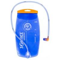 Фляга/гидропак 5-122515 2л прозрачно-голубая, антибакт. защита, силикон сосок. SOURCE
