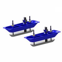 Датчик (трансдьюсер) Lowrance StructureScan SS стальной, сквозь корпус, 2шт. и Y-каб (000-11460-001)