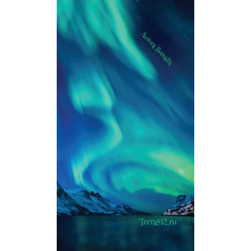 Бандана-труба Терра Северное сияние / Aurora Borealis синяя