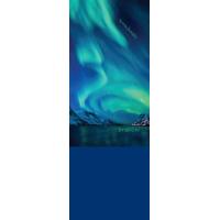 Бандана-труба с флисом Терра Северное сияние / Aurora Borealis синяя