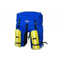 Велорюкзак на багажник Терра 80л син/желт на багажник