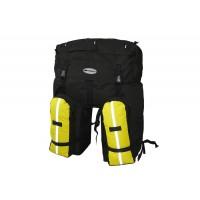 Велорюкзак-штаны на багажник Терра 80л черн/желт на багажник