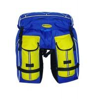 Велорюкзак-штаны на багажник Терра Пегас 50 л сер/желт.