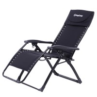 Кресло складное (сталь) 3903 DeckChair Enlarged Style (чёрный)