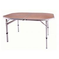 Стол складной (бамбук /алюминий) 3926 Elliptic Bamboo table (120Х80Х46/68)