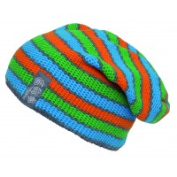 Трикотажная шапка унисекс SPORTCOOL 272/2 синий/зелёный/оранжевый
