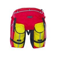 Велорюкзак-штаны на багажник Терра 50л красно-желтый на багажник