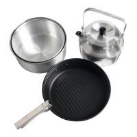 Набор посуды для 4х Nova Tour (2кастрюли, чайник, сковорода)