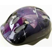 Шлем .детский/подростк. с сеточкой 6отв. 52-56см WIZARD/пурпурно-сине-черный (10) VENTURA