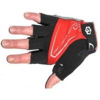 Перчатки Lady Comfort Gel красн-черно-серые M гель/лайкра/синт.кожа с петельк. (20) AUTHOR