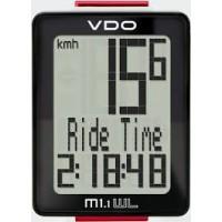Велокомп. VDO M1.1WL NEW 5 ф-ций Б/ПРОВОД. 3-строчный дисплей черно-белый (Германия)