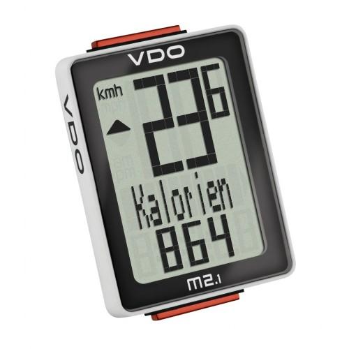 Велокомп. VDO M2.1 NEW 10 ф-ций 3-строчный дисплей черно-белый (Германия)