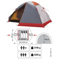 Палатка экспедиционная Talberg Peak 3 PRO