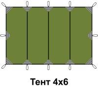 Тент 4*6м