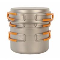 Набор кастрюли с крышкой 1200+800 мл NZ Ti Pot Set