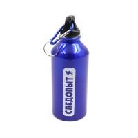 Бутылка питьевая, алюминиевая, с карабином
