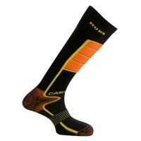 317 Carving носки, 12/15- чёрный/оранж