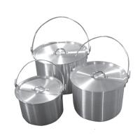Набор алюминиевых котлов 4,8л+9л+13л Tramp (с крышкой)