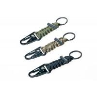 брелок паракордовый для ключей (карабин/кольцо для ключей/огниво)