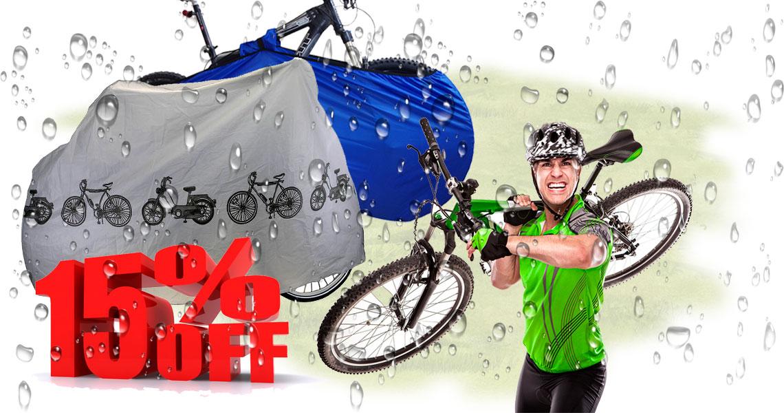 Акция! Скидка на чехлы для велосипеда 15%